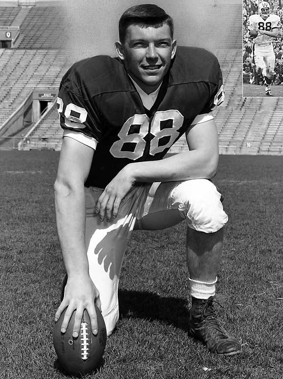 The last nine-time letterwinner in school history, Richter earned three letters each in football, basketball and baseball. The two time All-America at tight end and All-Big Ten first baseman led the NCAA in receiving as a junior and set a Rose Bowl record with 11 catches for 163 yards in 1963. He would go on to become the Big Ten's longest-tenured athletic director, serving for 14 years after an eight-year NFL career.
