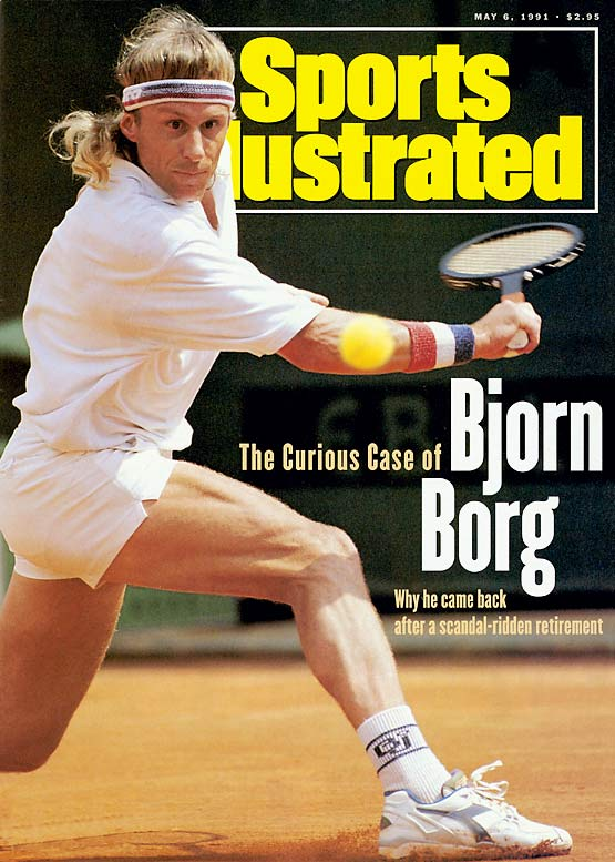 After losing to John McEnroe in the 1981 U.S. Open final, Borg played just one tournament in 1982 and retired a year later. With his wooden racket in hand, Borg returned to the tour in 1991 but didn't win a match.