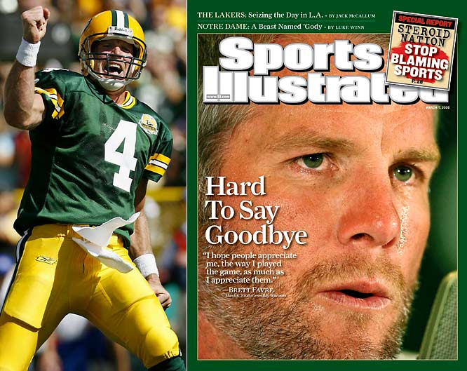 Brett Favre retired from the Packers, only to unretire a few months later to join the New York Jets. After one season in New York, he retired again, but changed his mind yet again and is now with the Minnesota Vikings.