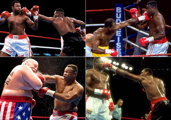"The former heavyweight champ retired in 1986 after a second loss to light-heavyweight champion Michael Spinks. Lured by a $3 million payday, Holmes made a comeback to fight Mike Tyson in '88 but lost in a fourth-round knockout and retired again. Coming back in '91, Holmes would eventually lose title bids against Evander Holyfield ('92) and Oliver McCall ('95) before beating Eric ""Butterbean"" Esch in 2002. He retired for good at  52, ending his 29-year career with a 69-6 record."