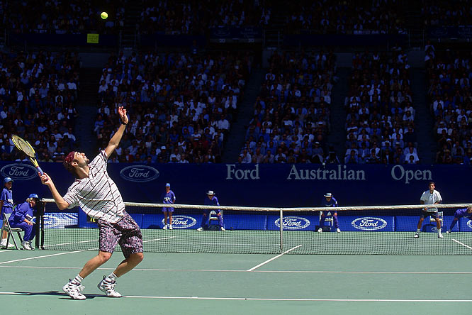 From 1993 to 2002, the pair won 20 of the 40 Grand Slam events, meeting in five Grand Slam finals, including Sampras's last competitive match, his win at the 2002 U.S. Open. The rivalry was fed by the contrast between Sampras' quiet on-court demeanor and Agassi's younger, wild persona.