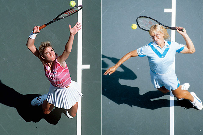 "They started out as friends and grew to loathe each other over the course of what tennis scribe/commentator Bud Collins called ""The Rivalry of the Century"" -- 80 matches from 1973-88, with the fiery Navratilova topping the steely Evert, 43-37, but each coming away with 18 Grand Slam singles titles."