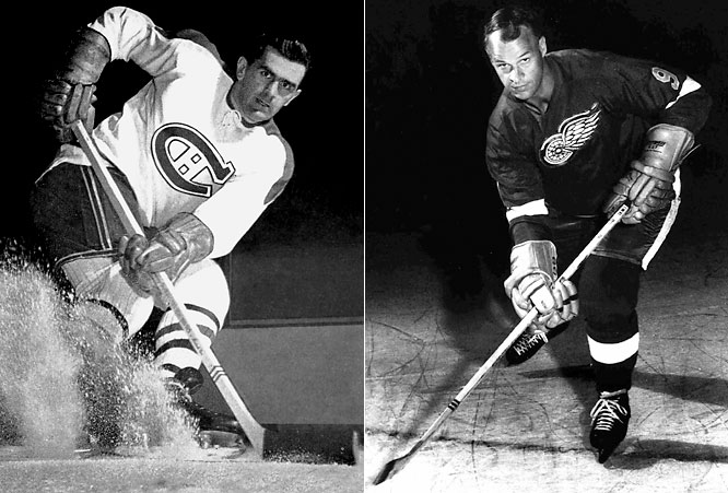 They both played right wing and both wore No. 9 on their sweaters, and when Howe entered the league he was constantly compared to the NHL's five-time leading scorer. Howe would go on to lead the league in scoring six times.