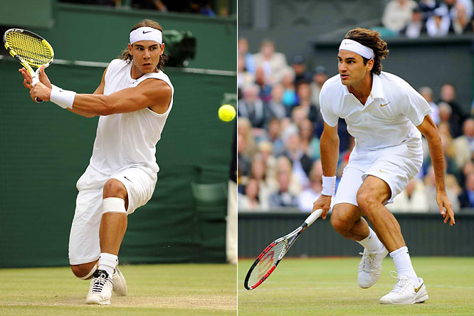 Federer and Nadal have met in each of the past three Wimbledon and French Open finals -- Federer winning on grass and Nadal on clay each time until Nadal's five-set Wimbledon win this year. Since 2003, only three other players have won Grand Slam events, with the pair taking 17 of the past 20 championships.