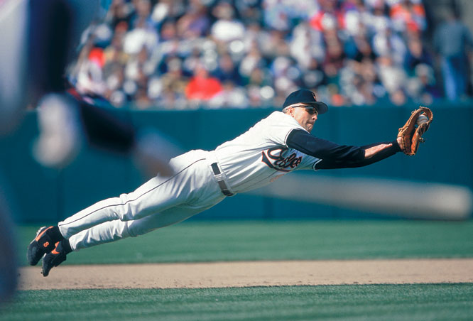 After making 2,216 consecutive starts at shortstop, Cal Ripken Jr. returns to third base for the first time since June 30, 1982. Also on this day in 1993, Ripken breaks Ernie Banks' mark for most career home runs by a shortstop (278).