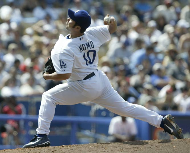 Dodger righthander Hideo Nomo becomes the first player from Japan to be selected for the major league All-Star game.