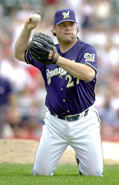 The Brewers hold Bob Wickman All-Star Poster Night a day after the team trades their All-Star reliever to the Indians.