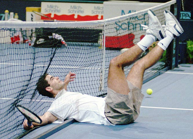 Pete Sampras wins his second of seven Wimbledon championships by beating Goren Ivanisevic in straight sets.