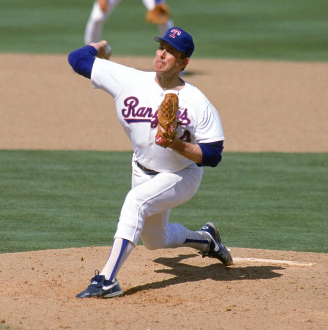 At County Stadium, Nolan Ryan wins his 300th game by defeating the Brewers, 11-3. The 43-year-old compiled 324 victories during his 27-year big league career.