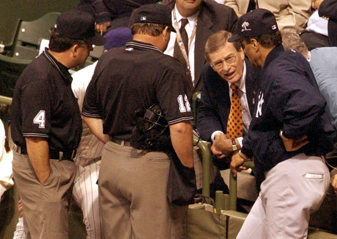 Despite chants of 'Let them play!' from the sellout crowd of 41,871 at Milwaukee's Miller Park, Baseball Commissioner Bud Selig declares the 73rd All-Star Game a 7-7 tie after 11 innings. Also on this day in 1998, Selig was named by the owners to be baseball's ninth commissioner.