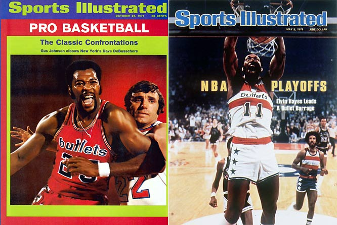Having terrible records in Chicago, the team moved to Baltimore where it saw gradual improvement. It wasn't until moving to Landover, MD in the greater Washington, D.C. area that it saw true success, eventually winning the NBA championship in the 1977-78 season behind future Hall of Famers Elvin Hayes and Wes Unseld.
