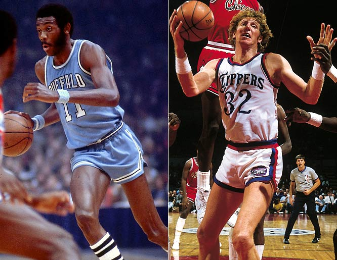 Bob McAdoo earned league MVP honors with the Buffalo Braves in the 1974-75 season, but Bill Walton was never able to lead the team to the playoffs in San Diego. The Clippers have made the playoffs just four times in 25 seasons in Los Angeles.