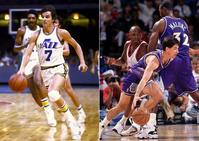 Despite an out-of-place nickname, the Jazz saw a marked improvement in Utah after five losing seasons with Pete Maravich in New Orleans. The Jazz have had only one losing record since the 1983-84 season, with Karl Malone and John Stockton leading the team to the playoffs in 22 of 25 seasons.