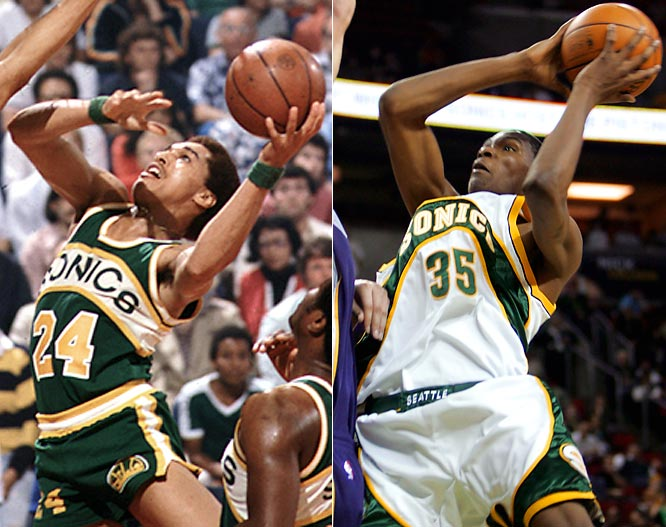 Dennis Johnson led Seattle to its only NBA title in 1978-79 and the Sonics made eight-straight playoff appearances in the `90s with Shawn Kemp and Gary Payton, but new ownership and the NBA's smallest arena have made Kevin Durant and Co. the latest NBA team to relocate, moving to Oklahoma City.