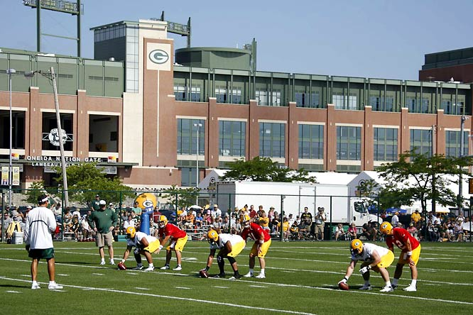 SI photographer David E. Klutho's shots from Packers training camp.