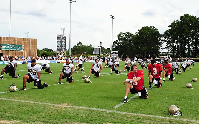 SI photographer Bob Rosato's shots from Saints camp.
