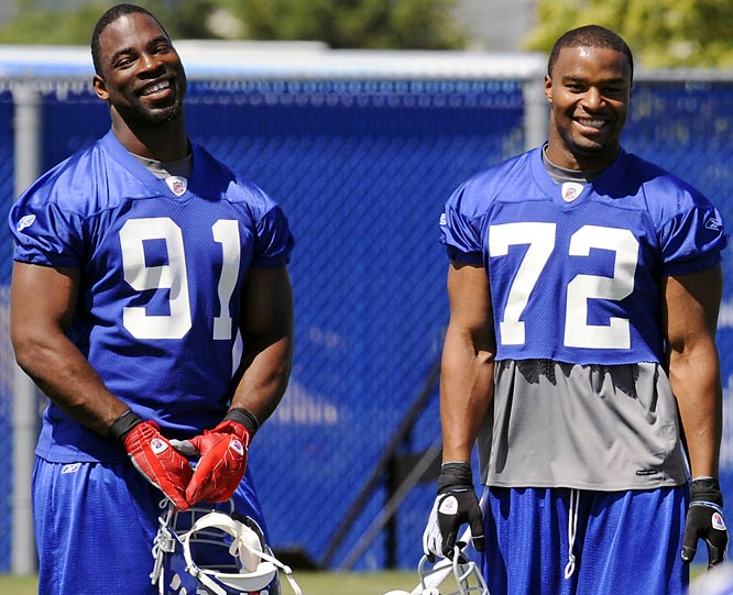 Where: University of Albany; Albany, N.Y.<br><br>Opens: July 25<br><br>Storyline: Can Justin Tuck (91) and Osi Umenyiora (72) pick up the slack from Michael Strahan's retirement?