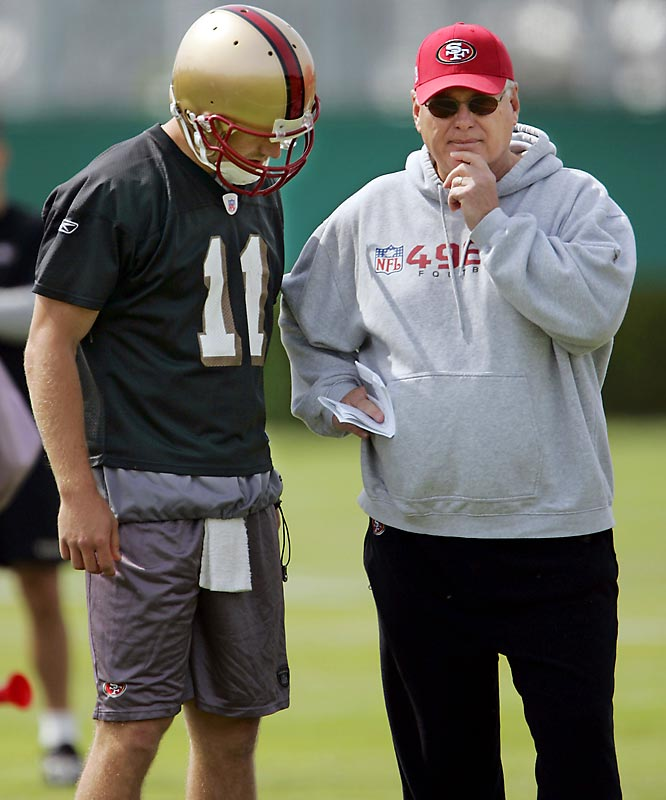 Where: Practice facility; Santa Clara, Calif.<br><br>Opens: July 25<br><br>Storyline: Who will be the quarterback in Mike Martz's newly designed offense?