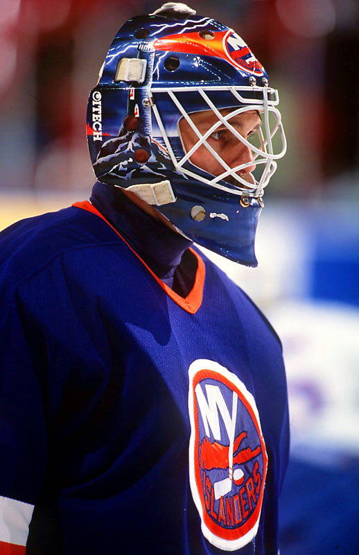 Embroiled in a contract hassle with popular goalie Glenn Healy, GM Maloney signed Ron Hextall, who became a target for fan wrath during the Isles' first-round playoff sweep by the eventual Stanley Cup champion Rangers in the '94 playoffs. The bitter defeat, which included two 6-0 shutouts, hastened the retirement of coach Al Arbour.
