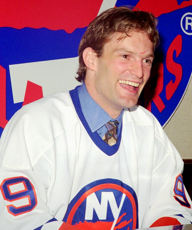 Seeking a fix, Maloney began wheeling and dealing, enraging Isles fans by trading Turgeon and defenseman Vladimir Malakhov to Montreal for Mathieu Schneider and Kirk Muller, who wept at the news and balked at joining the shipwreck on Long Island. Ultimately, Muller played only 45 games for the Isles, scoring seven goals and 15 points, before refusing to suit up and forcing a 1996 trade that netted Bryan Berard, Martin Straka and Ken Belanger.
