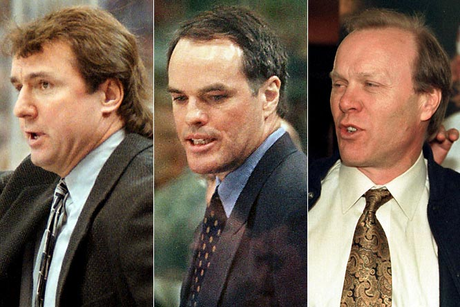 The Isles' coaching carousel kept whirling with no playoffs in sight as Milbury resigned in the middle of the '96-97 season and replaced himself with Rick Bowness, who lasted into the next campaign before Milbury replaced him and then turned the reins over to Bill Stewart in the middle of 1998-99. Stewart was quickly replaced by dynasty icon Butch Goring, whose two seasons behind the bench ended in 2001 with the Isles' worst full-season showing (21-57-3) since their inaugural expansion season of 1972-73.