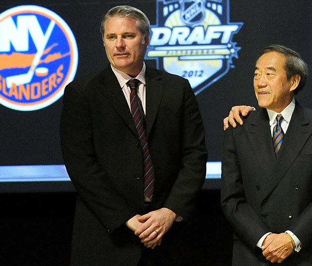 At the 2012 NHL Draft, the New York Islanders wrote a startling new chapter in their ongoing saga of ineptitude, mismanagement and misfortune. It was first reported by The Columbus Dispatch that GM Garth Snow had offered the Blue Jackets the Isles' entire slate of picks (No.s 4, 34, 65, 103, 125, 155 and 185) for the second overall choice in what was widely regarded as a thin and very dicey draft crop. The object of the Isles' affection was believed to be defenseman Ryan Murray, who ended up going to the Jackets. The Isles took Griffin Reinhart, the first of the seven blueliners they drafted that weekend.