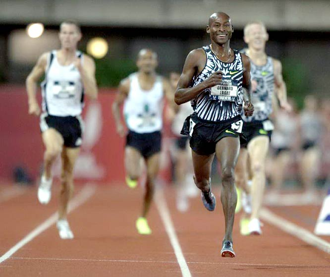Competing in his first Olympics for the U.S., Bernard Lagat easily won the 1,500-meters and 5,000-meters.
