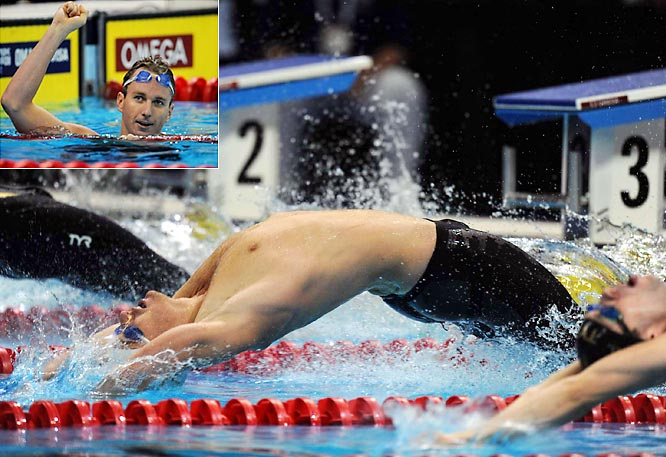Like Hackett dominates the 1,500, Peirsol owns the backstroke events. At the 2004 Olympics, he won both the 100- and 200-meters for the U.S. At the 2007 world championships, he set the 100-meter backstroke record with a time of 52.98, making him the first man to complete the event in less than 53 seconds.