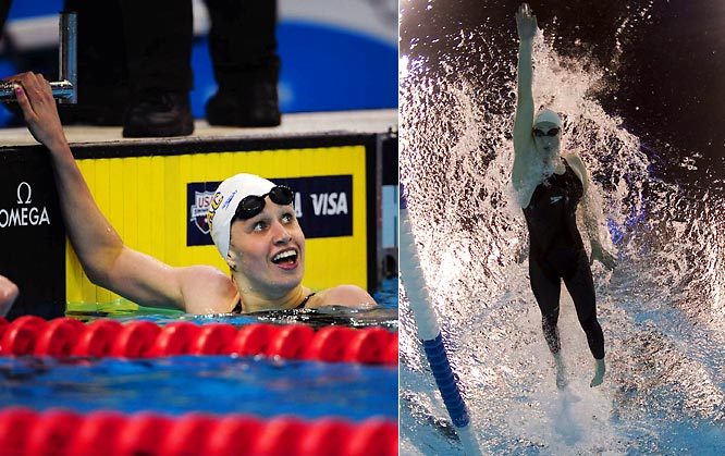 At just 19 years old, Hoff owns six world championship gold medals and is the current world-record holder in the women's 400-meter individual medley after breaking Australian swimmer Stephanie Rice's previous mark at the U.S. Olympic Trials this year.