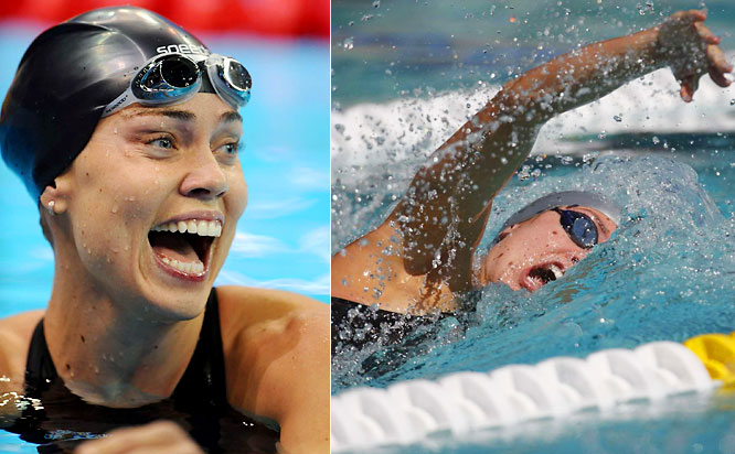 The world record-holder in the 100-meter backstroke, which she set at the Olympic trials, Coughlin is the only woman to finish the event in less than 59 seconds. At the 2004 Games, Coughlin won five medals, with golds coming in, of course, the 100-meter backstroke, as well as the 4x200-meter freestyle relay.