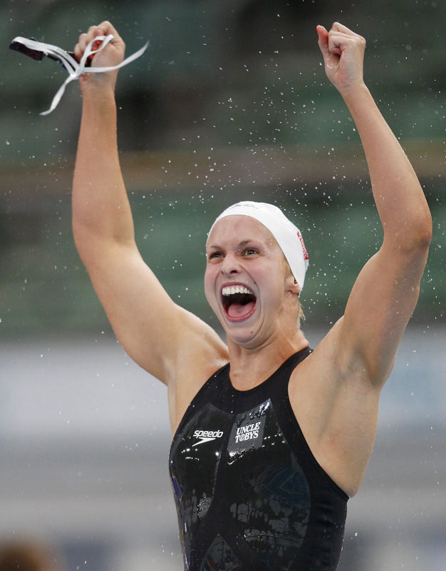 Trickett owns five world records, two of which are in the long course.  But, the more impressive number is her career medal tally from the Olympics and world championships: 26.
