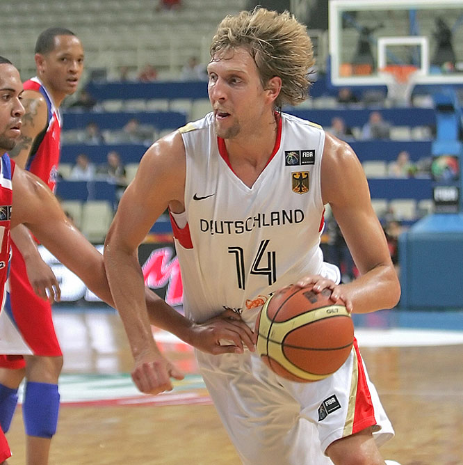 In this month's FIBA World Olympic Qualifying Tournament, Nowitzki poured in a game-high 32 points against Puerto Rico to send Germany to its first Olympics since 1992.