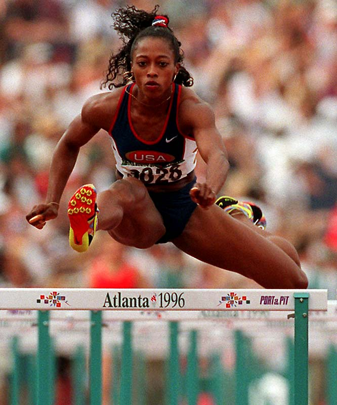 Diagnosed with Graves' disease in 1990, Devers went on to back-to-back gold medals in the 100 meters in 1992 and 1996, also adding a gold in the 4x100-meter relay in 1996. A three-time world champion in the 100-meter hurdles, she fell short in her favorite event at the Olympics.