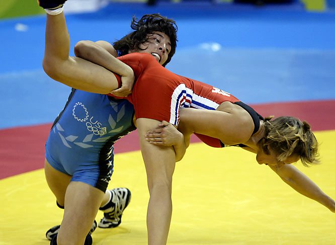 The first American woman to medal in wrestling, Miranda took bronze in freestyle wrestling in Athens and is expected to contend for another medal in Beijing.