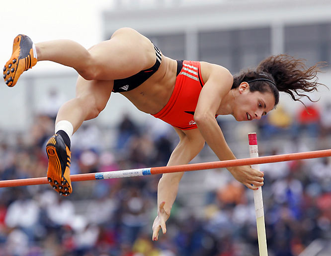 She owns the American women's record-holder in pole vault at 4.92 meters.
