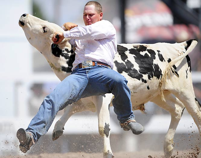 The event included 40 cowboys who competed for $1 million in prize money.