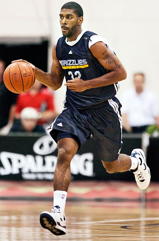 In his NBA debut at the Las Vegas summer league, Mayo announced his arrival with a huge dunk in transition over 6-11 Hornets big man Hilton Armstrong (http://www.youtube.com/watch?v=GTs-2raFAFo). In his fourth game, Mayo, the highest-drafted player (third overall) competing in Las Vegas, made a 69-footer to beat the first-quarter buzzer against the Spurs. ''I like his drive and desire to be a great player,'' Grizzlies coach Marc Iavaroni said. ''You can sense it.''