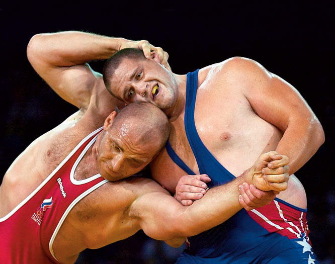 "Russian Greco-Roman wrestler Aleksandr Karelin had not lost a match in 13 years nor had he given up a point in six years. But American Rulon Gardner stopped the champion in his tracks. Gardner's gold medal at the Sydney Games has since been dubbed the ""Miracle on the Mat."""