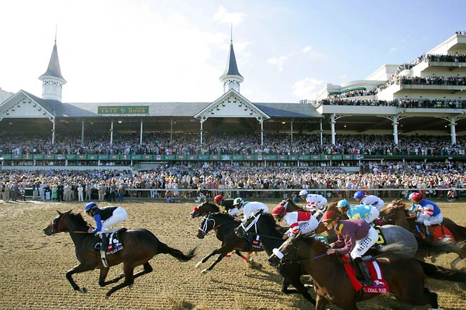 Since it opened in 1875, Churchill Downs has been home to horse racing's prime event, the Kentucky Derby. The grandstand (with its iconic spires) seats 51,000, but with standing room crowds, the capacity swells to 165,000. The track, clubhouse, stables and museum are all renowned, but none so much as the site's legendary mint julep.