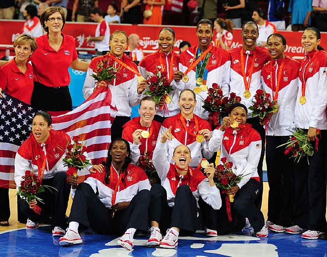 The U.S. women's basketball team winning its fourth consecutive gold medal while running its winning streak in the Olympics to 33 games.