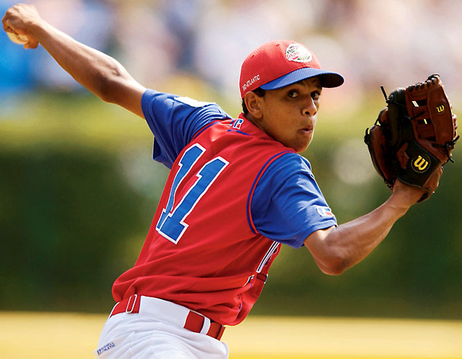 While the Beijing Olympics were notorious for athletes trying to act older than they really were, baseball players have long been trying to appear young. And Little Leaguer Almonte is one of them. His father claimed the young pitcher met the 12-year-old limit at the 2001 Little League World Series, but the truth was revealed when SI reporters Ian Thomsen and Luis Fernando Llosa obtained Almonte's birth ledger from the Dominican Republic, which stated that he was born April 7, 1987 -- not in 1989 like his father claimed.
