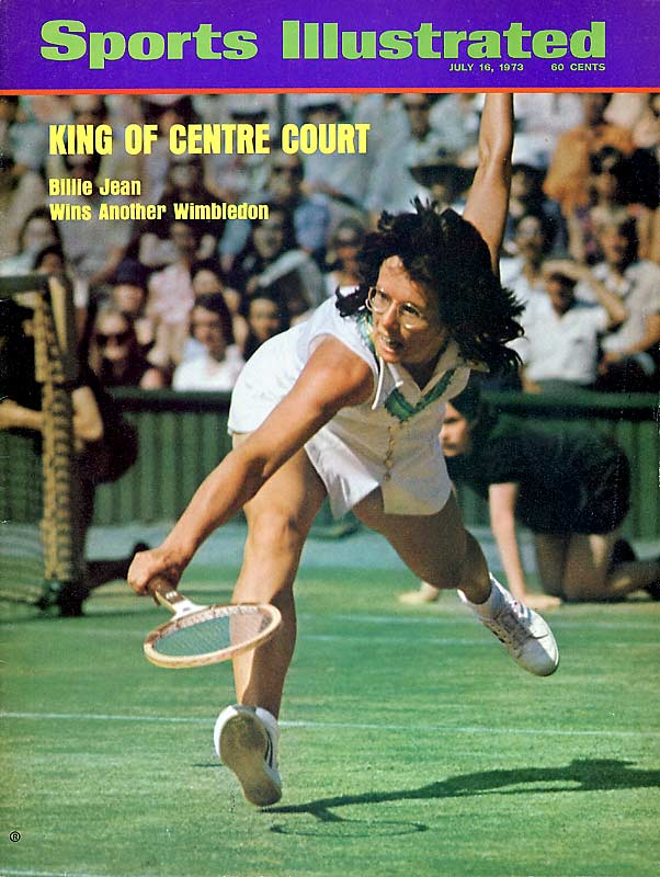 King won 12 Grand Slam singles titles, including six at Wimbledon, and 16 Grand Slam women's doubles titles. She is most remembered for her 1973 thrashing of Bobby Riggs in the ''Battle of the Sexes,'' staged at the Astrodome. Founder of the Women's Sports Foundation, King has continued to be a tireless advocate for women's sports. As a tribute to her contributions, the national tennis center in Queens, N.Y., bears her name.<br><br> Worthy of consideration: Michelle Akers, Shirley Babashoff, Ila Borders, Maureen Connolly, Janet Evans, Peggy Fleming, Marjorie Gestring. Florence Griffith-Joyner, Flo Hyman , Lisa Leslie, Nancy Lopez, Wendy Macpherson, Alice Marble, Pat McCormick, Ann Meyers, Cheryl Miller, Helen Wills Moody Roark, Dara Torres, Ann Trason, Donna de Varona, Venus Williams, Mickey Wright and Trischa Zorn.