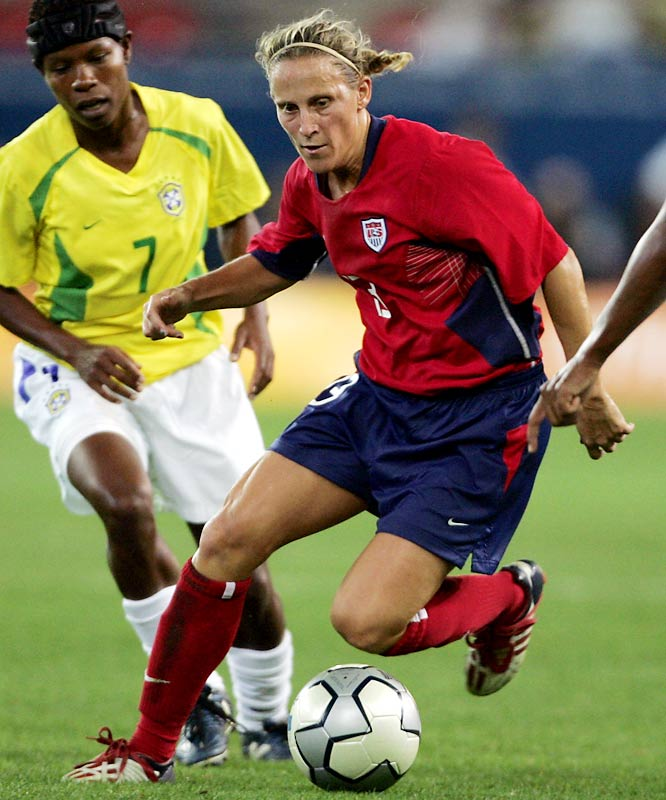 After helping North Carolina to four consecutive NCAA championships, Lilly went on to play for eight World Cup and Olympic soccer teams. She has scored 129 goals in her national-team career and is the only player from any country, male of female, to play in more than 300 international matches.<br><br>Worthy of consideration: Glenna Collett-Vare, Lindsey Jacobellis, Joan Joyce  and Nykesha Sales.