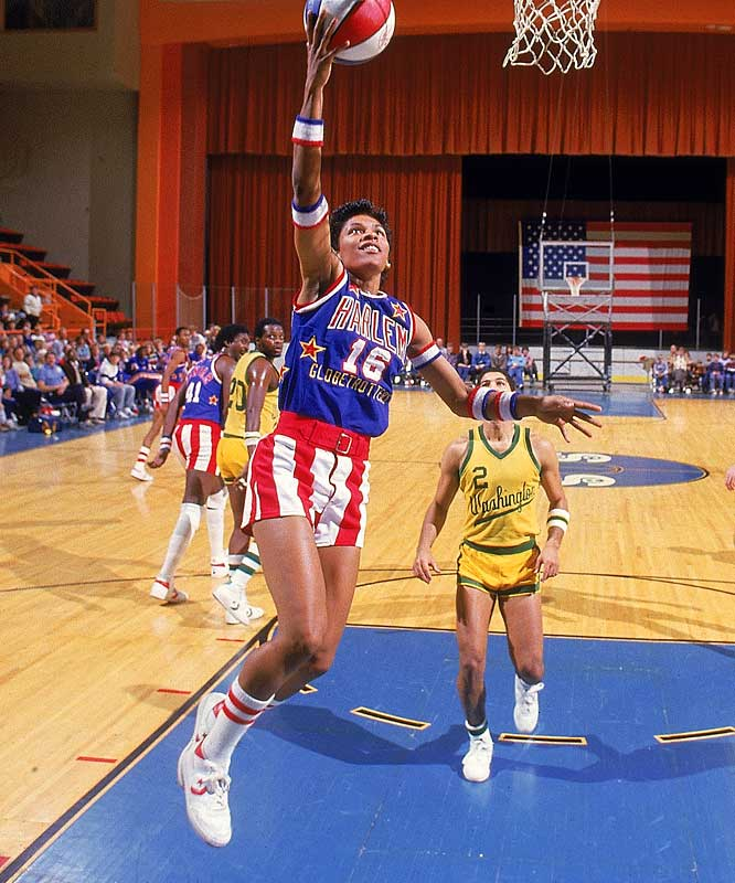A four-time All-America at Kansas, Woodard was the top-scoring woman in NCAA history, averaging 26 points per game and scoring 3,649 total during her career. As team captain, she led the U.S. women to a gold medal in 1984. She later became the first woman to play for the Harlem Globetrotters.<br><br>Worthy of consideration: Sandra Myers.