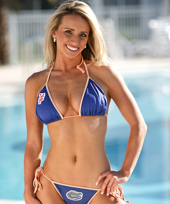 A new football season is finally here, but before we move forward with a fresh slate of cheerleaders, we want to look back at the lovely ladies featured on our site this summer. Let's start things off with Britany, a physiology and kinesiology student and proud member of the Florida cheer squad. When she's not rooting on her Gators, Britany enjoys listening to country music and partaking in her guilty pleasure -- cookies. Want to find out more? Click on the 20 Questions link below.
