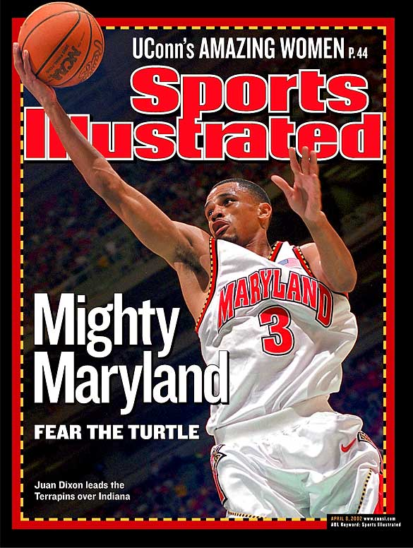 Dixon rules the Terrapin basketball history books.  He led Maryland to its first NCAA Championship in 2001, where he was named MOP of the Final Four. Dixon's individual statistics are incredible, as he is the only player in NCAA history to record over 2,000 points, 300 steals and 200 three-point field goals. He owns the school's career records in scoring (2,269), 3-point field goal attempts (615), 3-point field goals made (239), field goals attempted (1,713) and consecutive games played in a career (141). As a senior, he was named first-team All-America and the 2002 ACC Player of the Year.