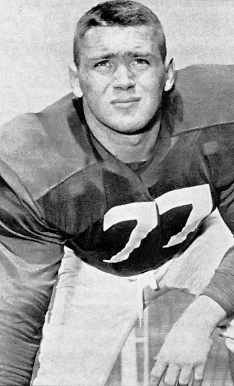 Jones was an instrumental player on the historic 1953 Terps football squad.  During that season, the starting right tackle bolstered a team that had a perfect 10-0 regular season and led a defense that only allowed 31 points. That team managed to record six shutouts, and thanks largely to Jones's skill, only Georgia was able to score more than six points in a game. Jones was named the 1953 Outstanding College Lineman and earned All-America honors.