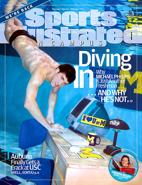 In 2005, Michael Phelps was already an international swimming legend, but he was also a college freshman at the University of Michigan. Now, after his other-worldly performance at the 2008 Beijing Olympics, we're taking a look back at his 2005 underwater photo shoot with SIOC.