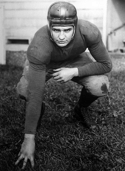 Considered one of the greatest athletes in Michigan history, Bennie Oosterbaan was a three-time All-America football player, a two-time All-America basketball player (who led the Big Ten in scoring during his senior season) and a baseball player. Turning down professional football for religious reasons, Oosterbaan went on to coach football, basketball and baseball at Michigan. In his first season as head football coach in 1948, he led the Wolverines to a national championship.
