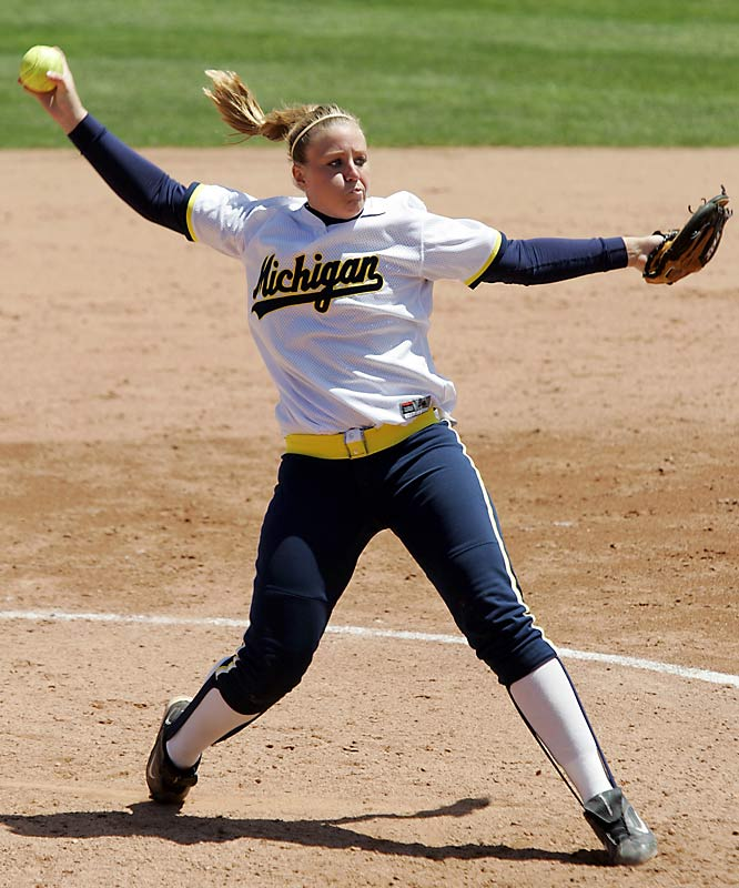 Pitcher Jennie Ritter led the Wolverines to a College World Series victory in 2005. During her four years at Michigan she broke numerous Michigan single-season records including no-hitters (4), wins (38), starts (41), appearances (48), complete games (38) and innings pitched (288). She is also Michigan's all-time leader in career strikeouts (1,205), no-hitters (5), shutouts (42), innings pitched (836) and appearances (151).
